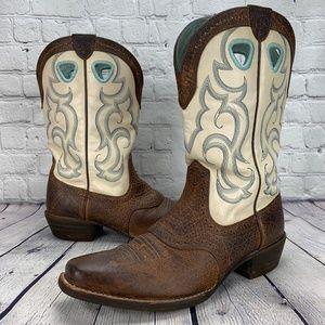 Ariat Earth Rawhide Square Toe Western Boots